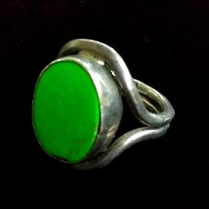 Southwestern Sterling Silver Green Turquoise Ring